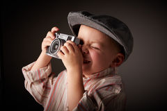 Young press photographer Royalty Free Stock Photography