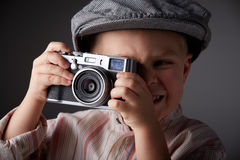 Young press photographer Royalty Free Stock Images