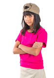 Young Preteen Asian Girl With A Cap VII Royalty Free Stock Photo
