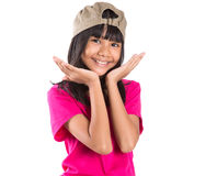 Young Preteen Asian Girl With A Cap X Stock Images
