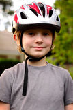 Young Preteen with Helmet Royalty Free Stock Photography