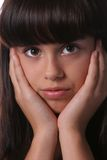 Young preteen's headshot. Sweet and innocent portrait of a young girl Royalty Free Stock Photo