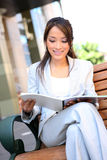 Young Pretty Asian Business Woman Stock Photo