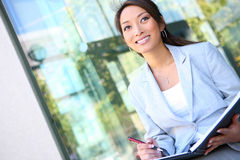 Young Pretty Asian Business Woman Royalty Free Stock Photo