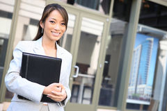 Young Pretty Asian Business Woman royalty free stock photos