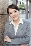 Young pretty Asian business woman portrait Stock Photo