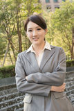 Young pretty Asian business woman portrait Royalty Free Stock Photography