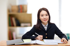 Young pretty Asian student. Stock Photo