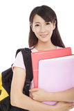Young pretty asian woman with books Royalty Free Stock Photo