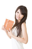 Young pretty asian woman with a gift Stock Image