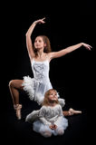 Young pretty ballerina with her daughter Stock Photo