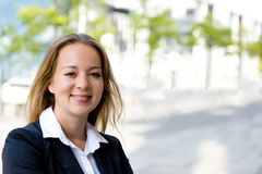 Young pretty blonde businesswoman Royalty Free Stock Image