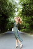 Young pretty blonde woman posing royalty free stock photo