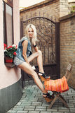 Young pretty blonde woman Royalty Free Stock Image