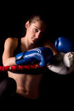 Young pretty boxer woman Royalty Free Stock Images