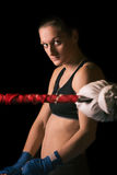 Young pretty boxer woman Stock Photography