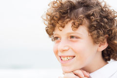 Young pretty boy posing at beach Royalty Free Stock Image