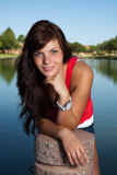 Young Pretty Brunette Royalty Free Stock Photography