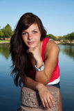 Young Pretty Brunette Stock Image