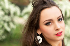 Young pretty brunette Royalty Free Stock Images