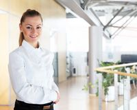 Young pretty businesswoman Royalty Free Stock Photos