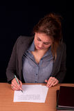 Young pretty businesswoman Royalty Free Stock Images
