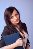 Young pretty businesswoman Stock Images