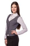 Young pretty businesswoman isolated stock photos
