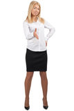Young pretty businesswoman ready to handshake Stock Photo