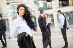 Young Pretty Businesswoman Stock Photo