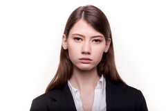 Young pretty businesswoman or student in suit stock image Stock Image