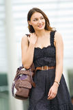 Young pretty caucasian lady outdoors Stock Image
