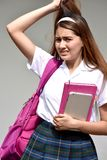 Catholic Colombian Female Student And Anxiety With Books