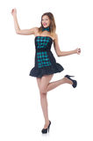 Young pretty dancing  woman Royalty Free Stock Images