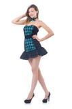 Young pretty dancing  woman Stock Photo