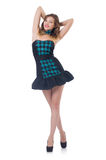 Young pretty dancing  woman Stock Photography