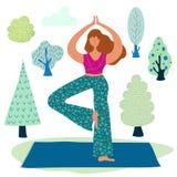 Yoga girls vector royalty free illustration