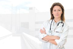 Young pretty female doctor Royalty Free Stock Images