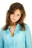 Young pretty girl. Isolate on white Stock Photography