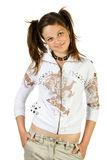 Young pretty girl. Isolate on white Royalty Free Stock Photos
