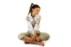 Young pretty girl. Isolate on white Stock Image
