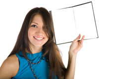 Young pretty girl with book Royalty Free Stock Photo