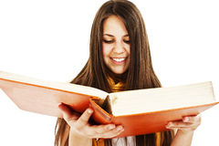 Young pretty girl with books stock photos