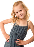 Young pretty girl with hands on hips Royalty Free Stock Photo