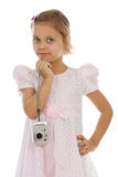 Young pretty girl photographer Stock Photo
