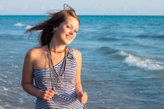 Young pretty girl smiling Stock Images