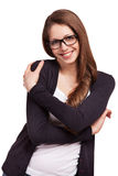 Young pretty girl in stylish glasses Royalty Free Stock Image