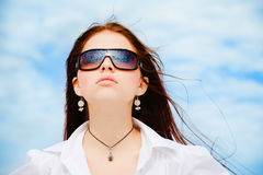 Young pretty girl in sunglasses Stock Image