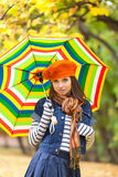 Young pretty girl with umbrella Royalty Free Stock Image
