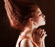 Young pretty girl woth red hair Stock Images